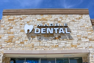 Outside view of Marble Dental office